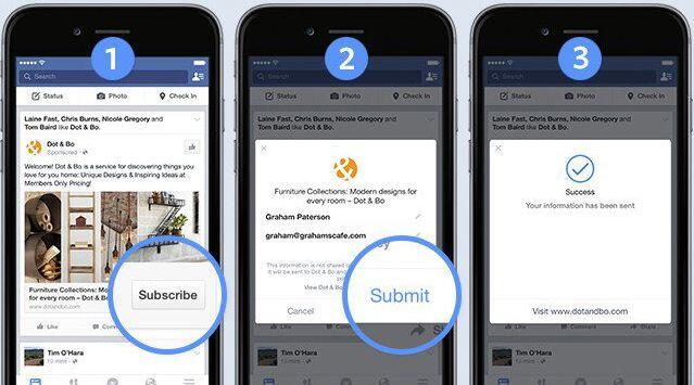 acquisizione contatti facebook