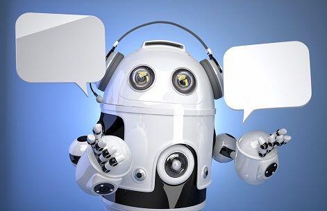 Robot con fumetti di live chat