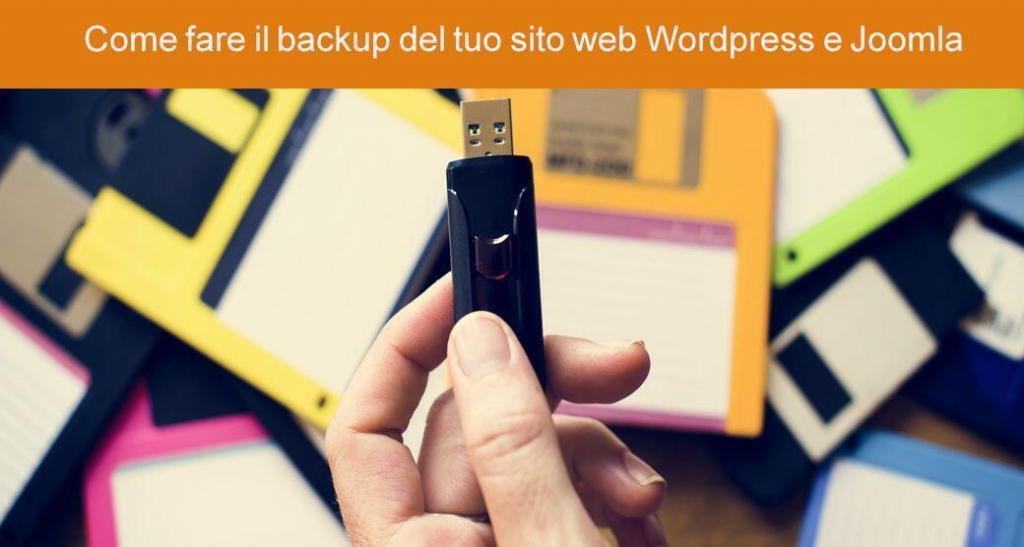 Come fare il backup del tuo sito web Wordpress e Joomla
