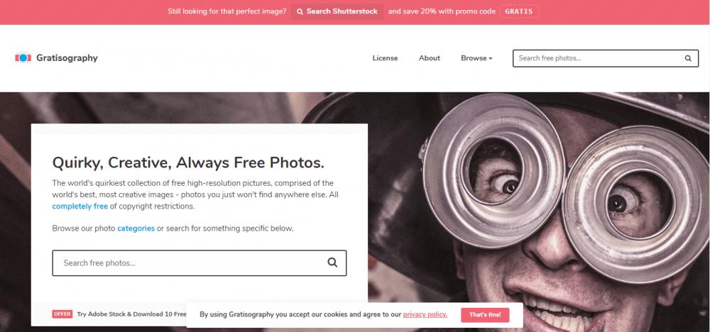 gratishography vi permette di scaricare foto gratis per il blog o per facebook