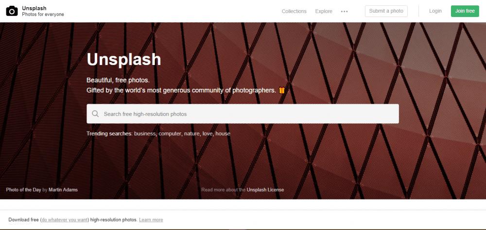 unplash, uno dei migliori tra i 10 siti per immagini gratis