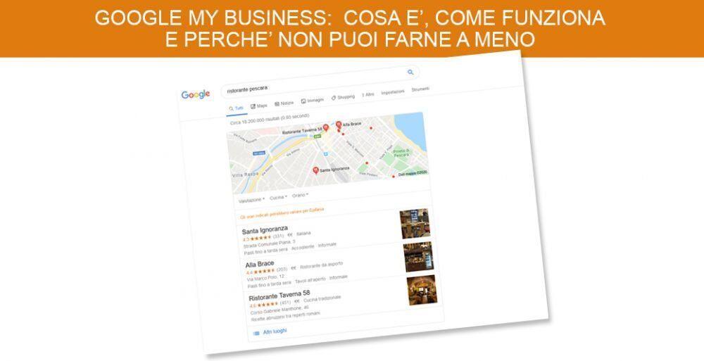 Google My Business: cosa è, come funziona e perchè non puoi farne a meno
